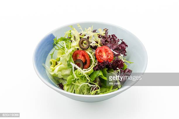 bowl of vegetables salad - side salad stock pictures, royalty-free photos & images