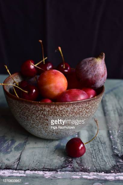 bowl with autumn fruits - ingredient stock pictures, royalty-free photos & images