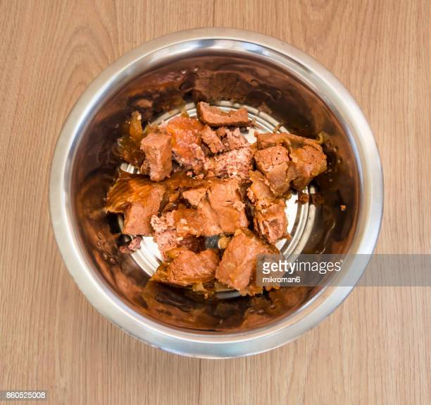 Bowl with dog food