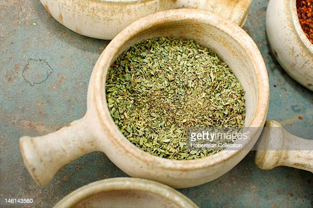 Bowl with dried Oregano Chile