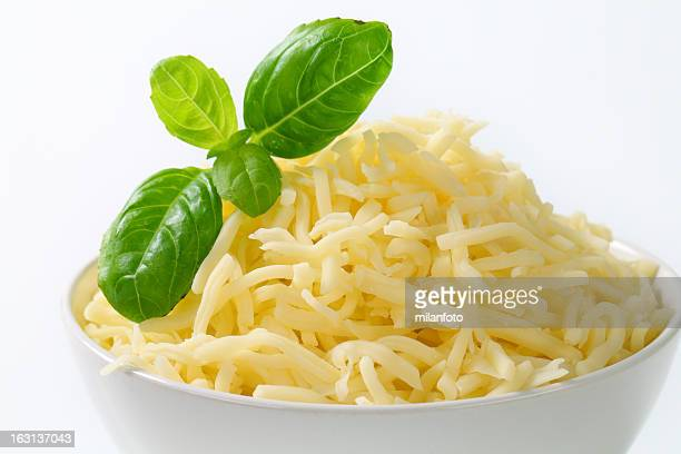 Bowl with grated cheese