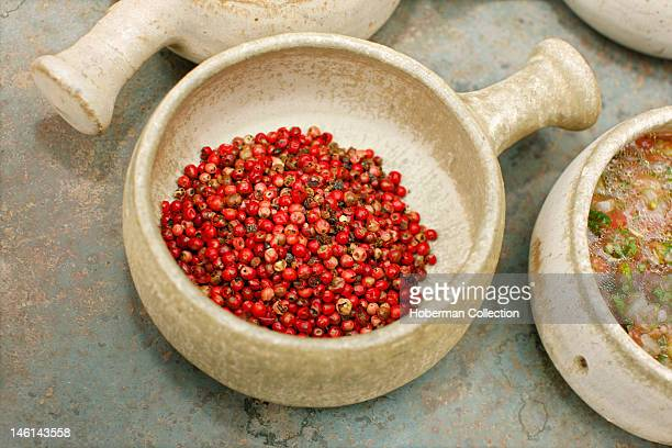 Bowl with Red Peppercorns Chile