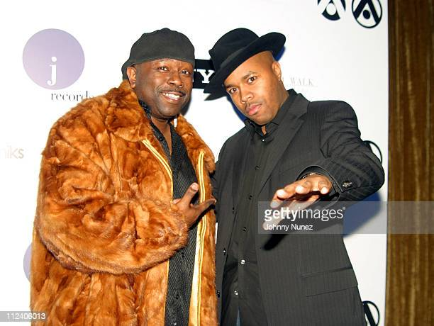 Bowlegged Lou and DNice during XFactah's 5th Anniversary Hosted by DJ Goldfingerb at Strata in New York City New York United States