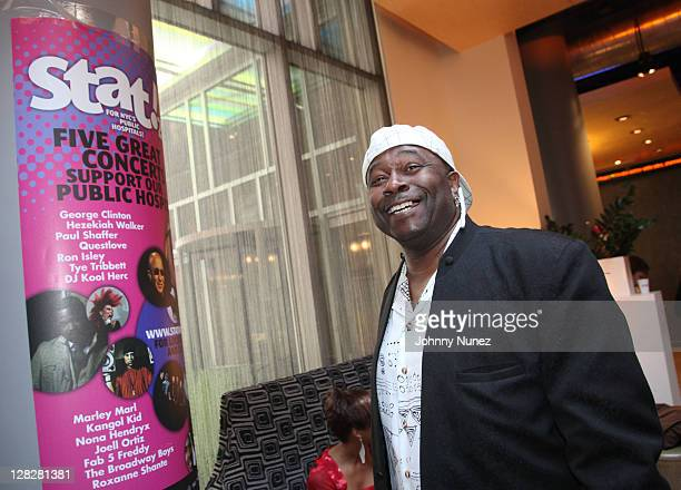 Bowlegged Lou attends the New York City Health and Hospitals Corporation press conference at Aloft on October 4 2011 in New York City