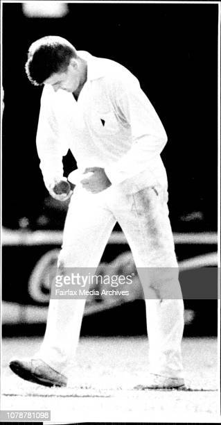 Bowler David Freedman's style during recent shiffield shield match at the S.C.G against W.A. March 12, 1992. .