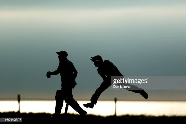 A bowler from Menheniot/Looe CC bowls during the Cornwall Cricket League Division 2 East match between Bude CC and Menheniot/Looe CC at Crooklets...