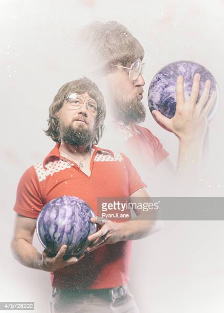 bowler man glamour shot - bowling stock pictures, royalty-free photos & images