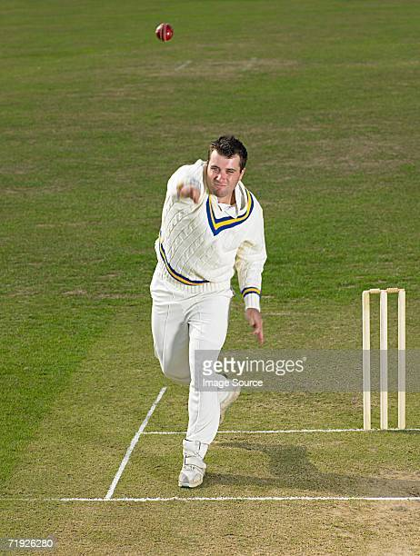 bowler - cricket ball stock pictures, royalty-free photos & images