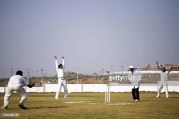 Bowlers and fielders appealing to the umpire
