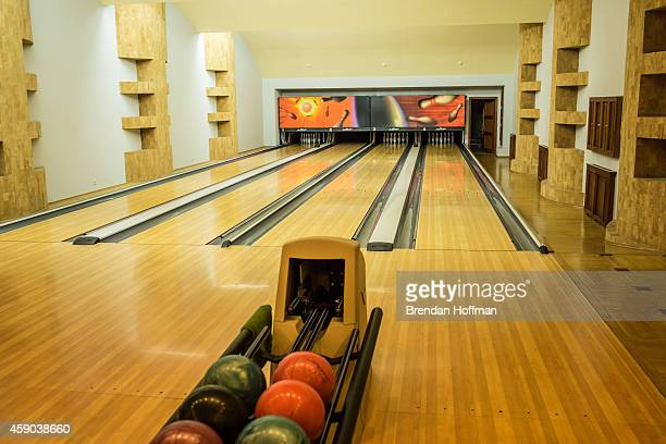 A bowling alley at Mezhyhirya the former private estate of former president Viktor Yanukovych which is now a museum on November 15 2014 in Novi...