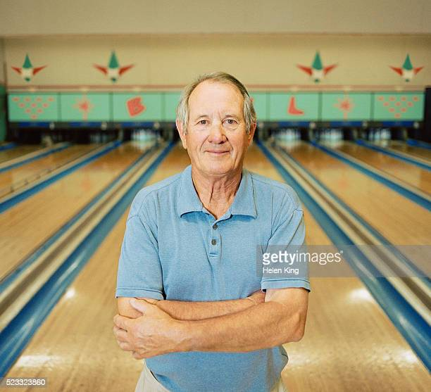 bowling alley owner - waist up stock pictures, royalty-free photos & images