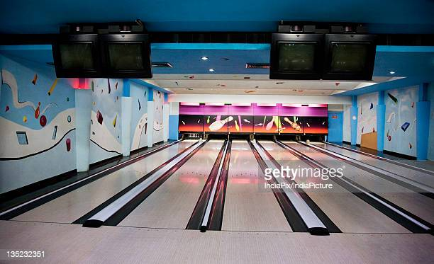 bowling alley - bowling alley stock pictures, royalty-free photos & images
