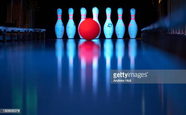 Bowling Ball on skittle alley