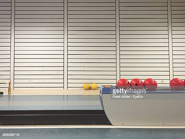 Bowling Balls On Shelf