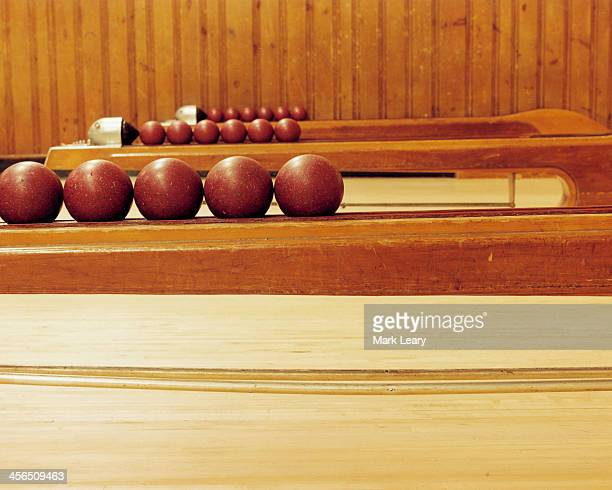 bowling balls - bowling alley stock pictures, royalty-free photos & images