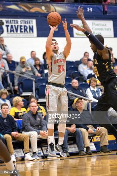 Bowling Green Falcons G Matt Fox shoots during the first half of the men's college basketball game between the Bowling Green Falcons and Kent State...