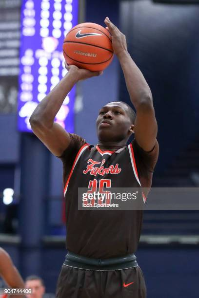 Bowling Green Falcons guard/forward Daeqwon Plowden at the foul line during the first half of the men's college basketball game between the Bowling...