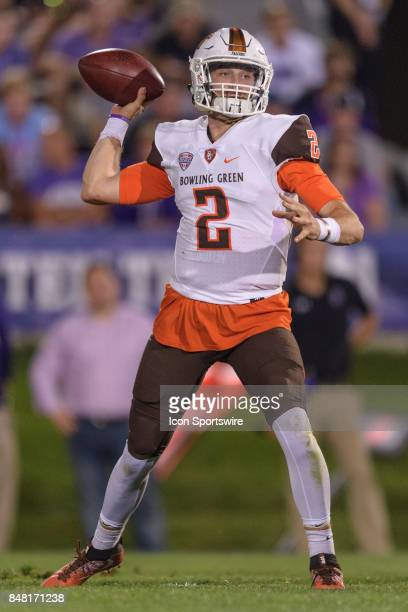 Bowling Green Falcons quarterback Jarret Doege passes the ball in the 4th quarter during a college football game between the Bowling Green Falcons...