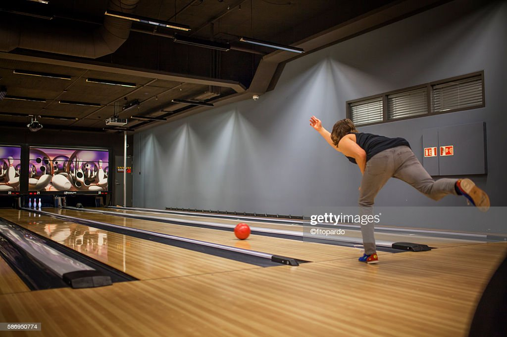 Bowling in Iceland : Stock Photo