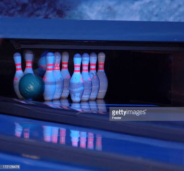 bowling in neon light