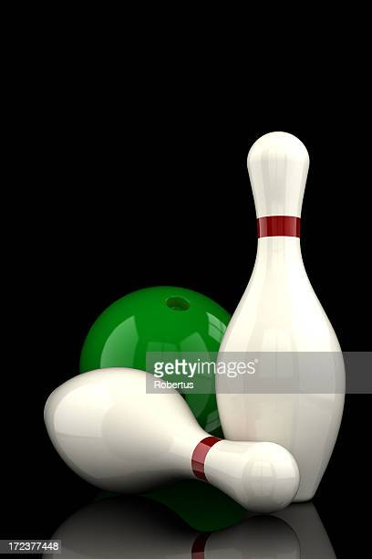 Bowling-pins Mit clipping path