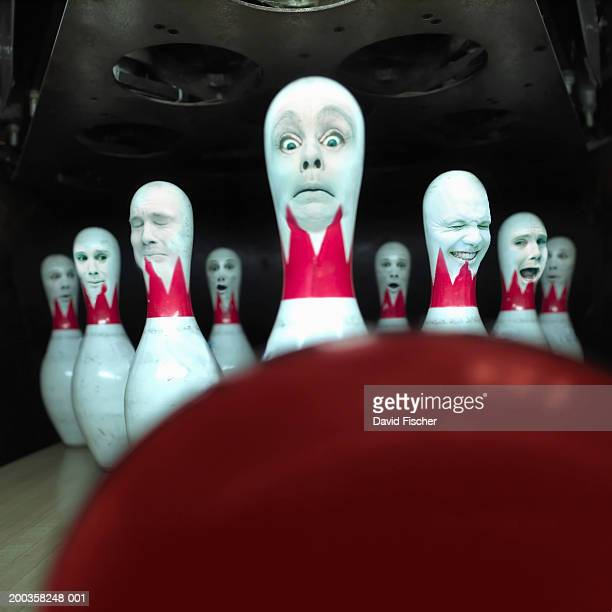 Bowling pins with faces (Digital Composite)