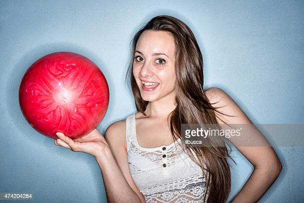 Bowling player ring flash portrait
