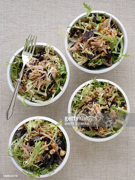 Bowls of endive and hazelnut salad