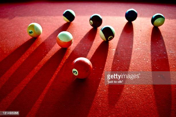 Bowls of old pool table