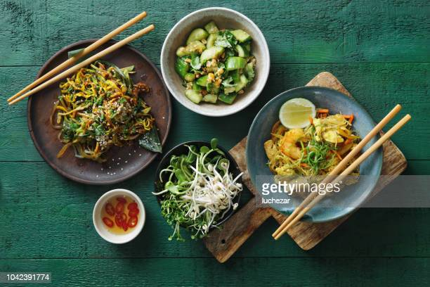 bowls with japanese food - curry meal stock pictures, royalty-free photos & images
