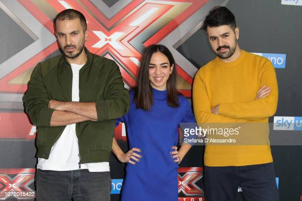Bowman attend X Factor 2018 Photocall on December 12 2018 in Milan Italy