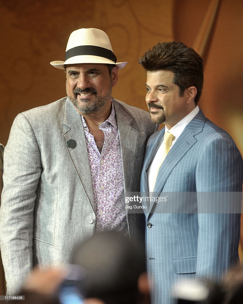 Bowman Irrani and Anil Kapoor at the official launch of the 2011 IIFA awards press conference held at the Royal York Hotel on June 23, 2011 in Toronto, Canada.