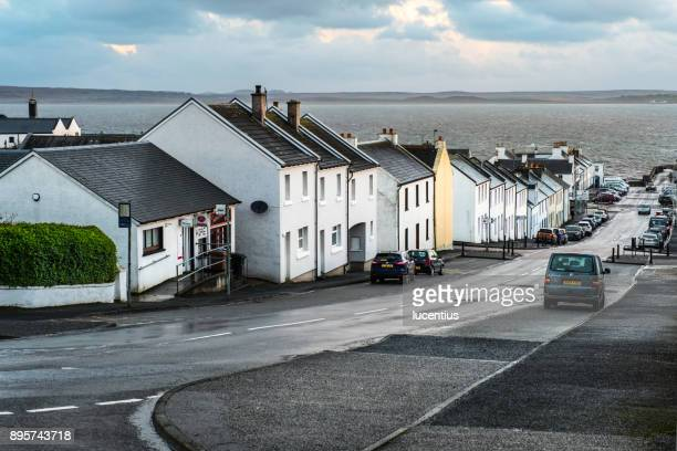 bowmore, islay, scotland, december - argyll and bute stock photos and pictures