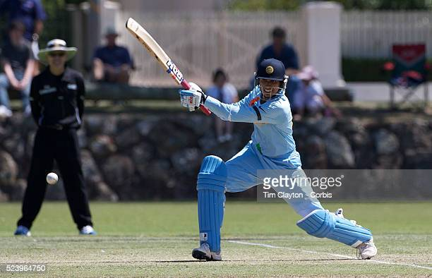 Indian opening batsman Anjum Chopra in action as India and Pakistan compete in the first match of group B of the ICC Women's World Cup Cricket at the...
