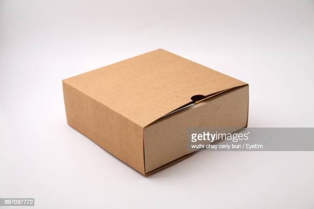 box against white background - brown stock pictures, royalty-free photos & images