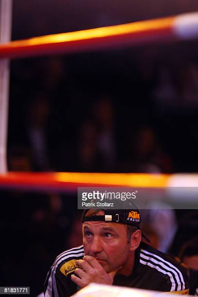 Box coach of Felix Sturm Michael Timm looks on during the WBA middleweight world championship fight against Randy Griffin of United States of America...