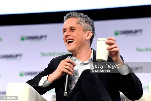 Box Co-Founder/Chairman & CEO Aaron Levie speaks onstage during TechCrunch Disrupt San Francisco 2019 at Moscone Convention Center on October 02,...