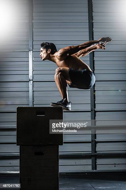 box jump gym - vertical stock pictures, royalty-free photos & images