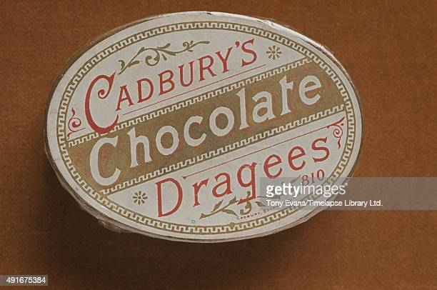 A box of Cadbury's chocolate dragees the company's earliest easter eggs circa 1900