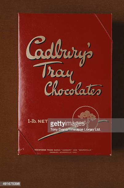 A box of Cadbury's Tray Chocolates circa 1950