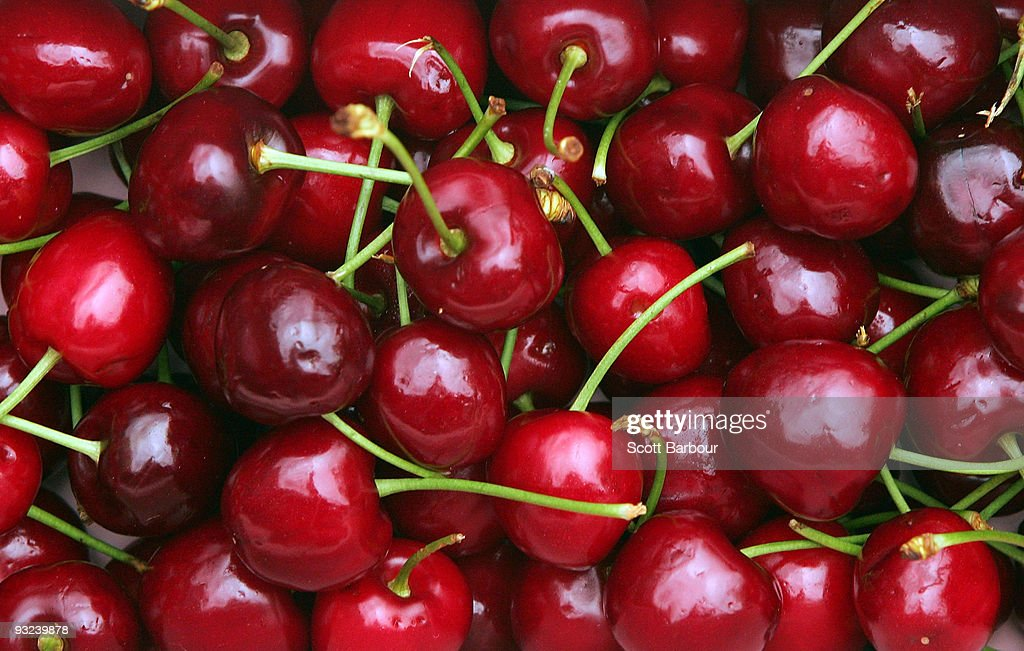 Victorian Cherry Season Launches In Melbourne : News Photo