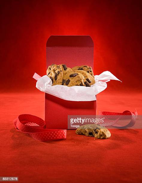 Box of chocolate chip cookies