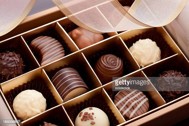 box of chocolates - box of chocolate stock pictures, royalty-free photos & images