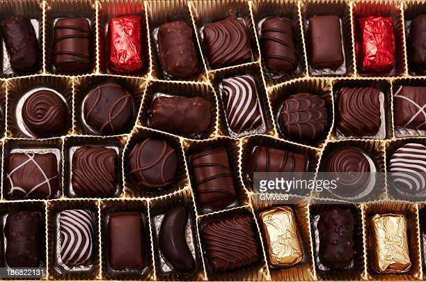 box of chocolates - valentine's day holiday stock pictures, royalty-free photos & images