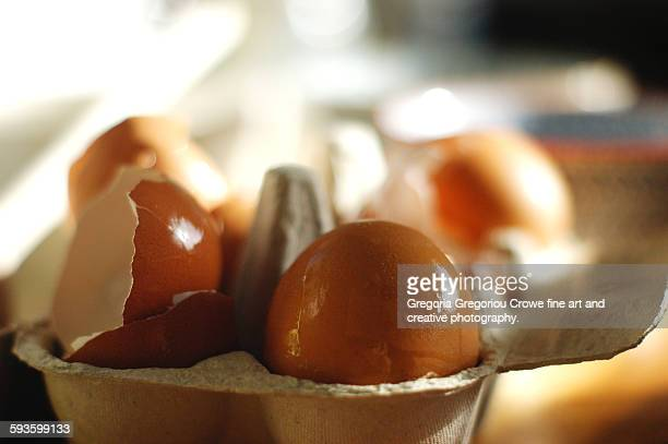 box of eggs - gregoria gregoriou crowe fine art and creative photography. stockfoto's en -beelden