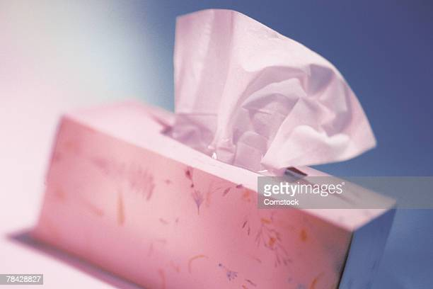 Box of facial tissue