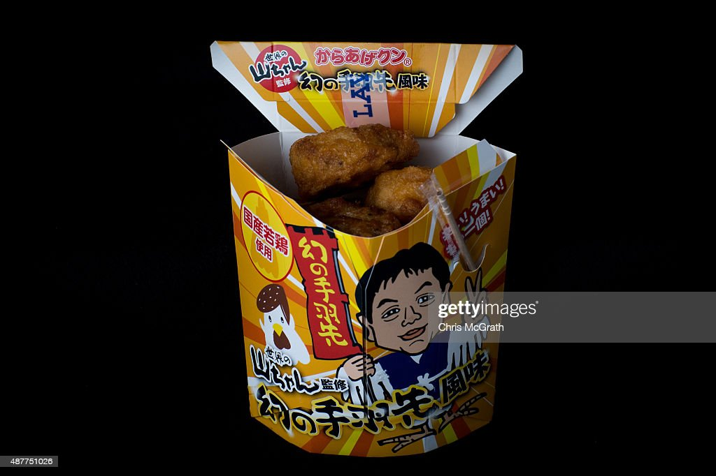 A box of fried chicken balls from a convenience store or konbini