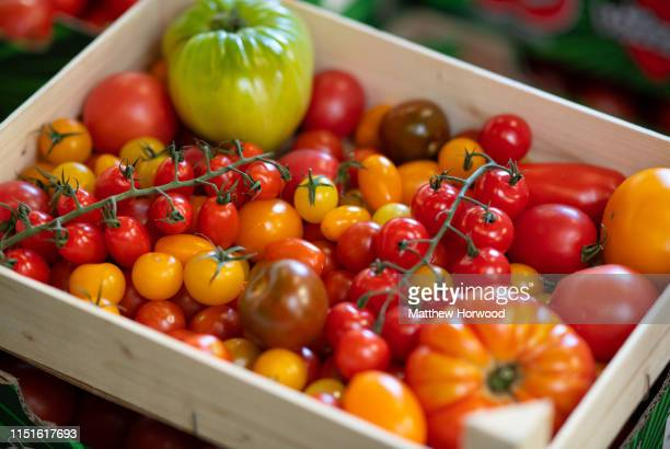 A box of heirloom tomatoes on June 28 2018 in Talbot Green United Kingdom