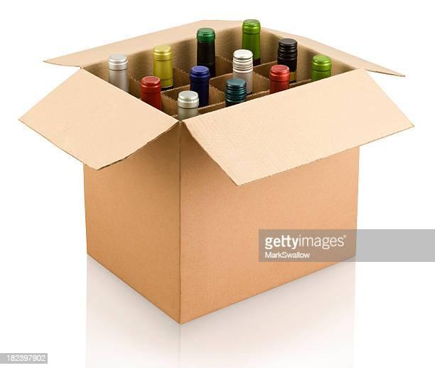 Schachtel mit Wein