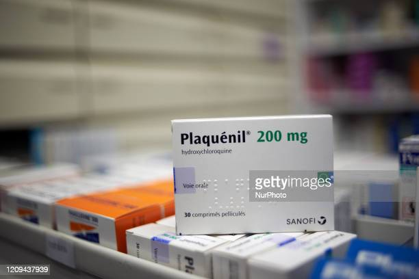 A box of Plaquenil an antimalaria drug hydroxychloroquine made by Sanofi used for years to treat malaria and autoimmune disorders In France Pr Raoult...